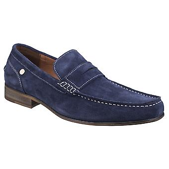 Gabicci Mens Crosby Loafer Shoe Navy