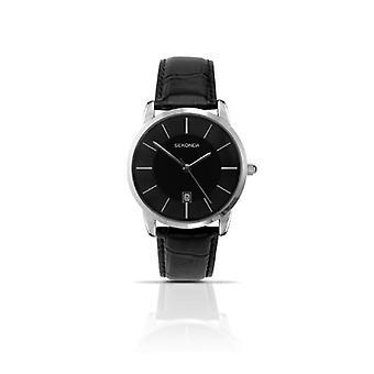 Sekonda wrist watch, analog, Man, skin, black (2)
