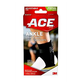 Ace brand ankle brace with side stabilizers, one size, 1 ea