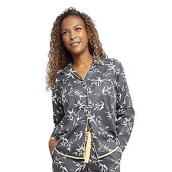 Cyberjammies 4347 naiset ' s Willow Grey bambu lehti tulosta puuvilla pyjama alkuun