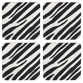 Navigate Madagascar Set of 4 Coasters, Zebra Stripe