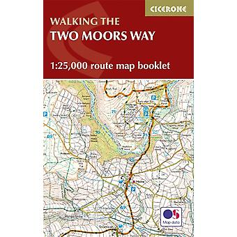 Two Moors Way Map Booklet by Sue Viccars