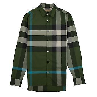Burberry Windsor Langarm Shirt grün