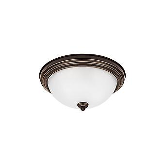 Sea Gull Lighting 77064-827 Ceiling Flush Mount Round Flush Mount 2-Light Bronze