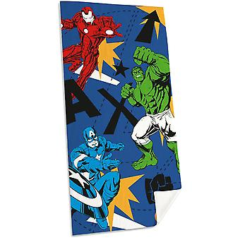 Marvel Avengers Comics 3 Heroes Towel Bath Sheets 150*75cm