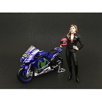 Female Biker Figure For 1:18 Scale Models by American Diorama