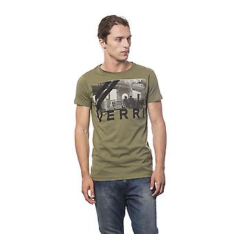 Short-sleeved Green Military Green Man T-shirt