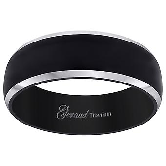 Titanium Black Tone Mens Domed Comfort Fit Wedding Band 8mm Jewelry Gifts for Men - Ring Size: 8 to 13