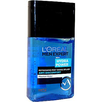Men Expert by L'Oreal Hydra Power Post Shave Splash 125ml Refreshing Anti Discomfort