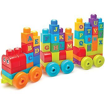 Mega Bloks byggegrund læggende ABC læring Train legetøj