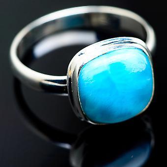 لاريمار خاتم حجم 12.75 (925 الجنيه الاسترليني الفضة) -- اليدوية بوهو خمر مجوهرات RING992745