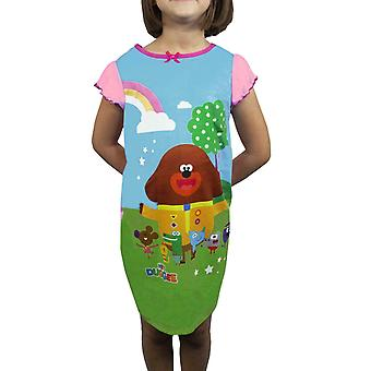 Hey Duggee Squirrel Club Girls Nightdress Frilled Sleeved Nightie