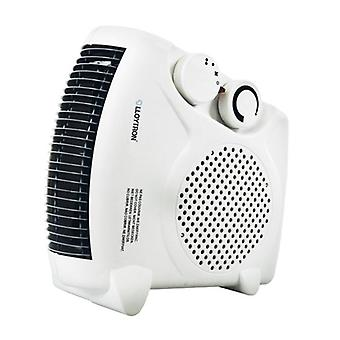 Lloytron 2000W British BEAB Approved Fan Heater with 2 Settings and Cool Blow