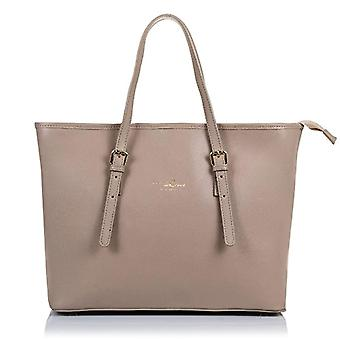 FIRENZE ARTEGIANI. Women's bag in real TOTE leather. Finished in genuine leather saffiano soft leather bag and luxurious finishes. MADE IN ITALY. REAL ITALIAN SKIN. 38 x 29 x 17 cm. Color: pink