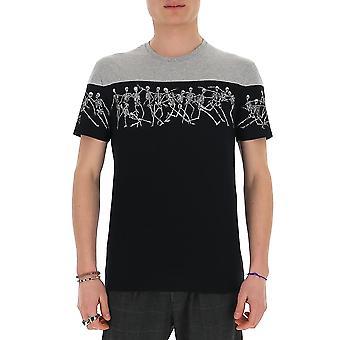 Alexander Mcqueen 601142qoz860901 Män's Black Cotton T-shirt