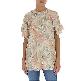 Red Valentino Tr3aaa954ryr13 Women's Nude Cotton Blouse