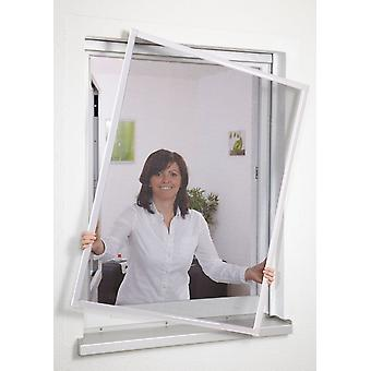 Insect repellent Fly screen window aluminium frame without drilling 80 x 100 cm white