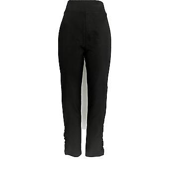 Anybody Women's Pants Cozy Knit W/ Satin Trim Black A367658