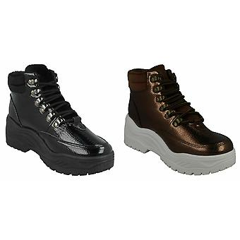 Spot On Womens/Ladies Chunky Platform Ankle Boots