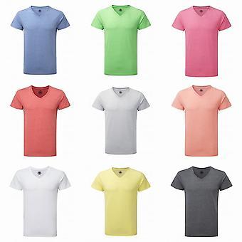 Russell Mens kort ärm v-ringad HD T-Shirt