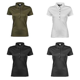 Tee Jays Womens/Ladies Pima Short Sleeve Cotton Polo Shirt