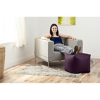 Hippo Footstool Pouffe Cube Istuinbean Bag | jalka tuki pouffes | olohuone & Makuuhuone | Ottomaanien Faux Nahka jalkatuki (Purple)