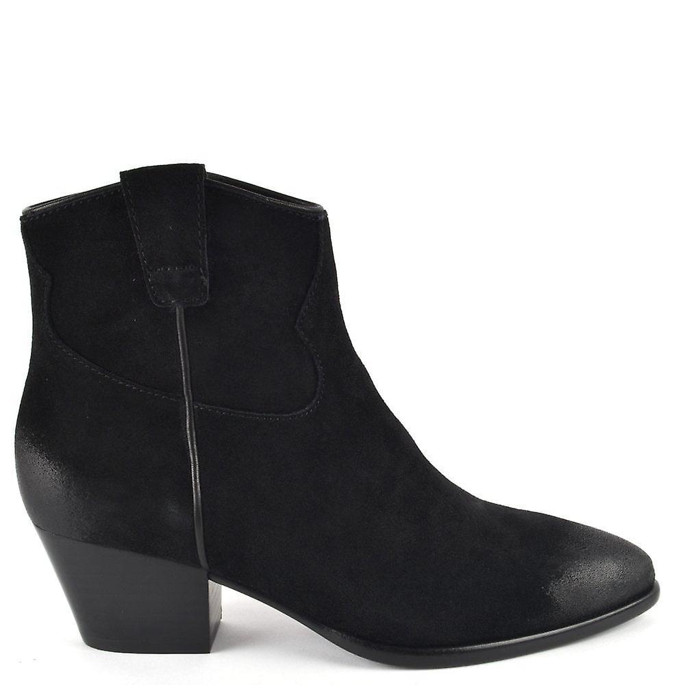 Ash HOUSTON Boots Brushed Black Suede wL8Hq