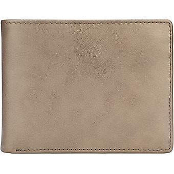 Brieftasche für Männer-echte Leder RFID Blockierung Bifold stylish, Galaxy-Gold, Größe M