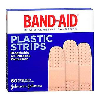 Band-aid plastic strips bandages, quiltvent, one size, 60 ea