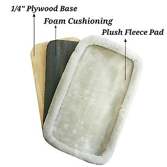 Gold series plush replacement faux fleece pad with plywood base - 17x10