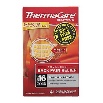 Thermacare Heatwraps- Advanced Selkäkipu Relief - 4 Kpl