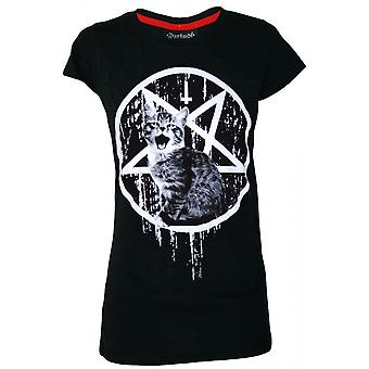 Darkside Clothing Satans Kitty T-Shirt
