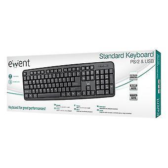 Keyboard Ewent EW3109 PS/2 USB Black