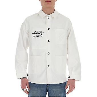 Chemise en coton blanc Junya Watanabe J4030511