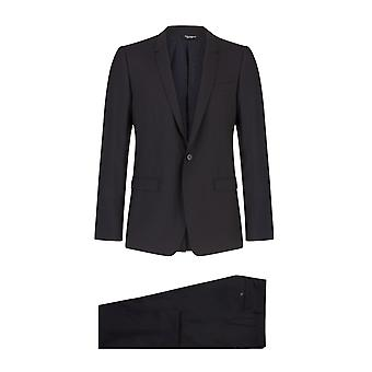 Dolce & Gabbana One-Button Jacket With Lapels In Silk And Wool
