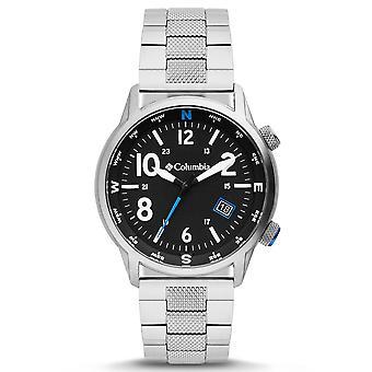 Columbia Outbacker Quartz Black Dial Silver Stainless Steel Bracelet Men's Watch CSC01-005
