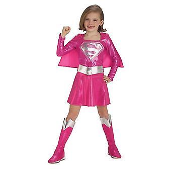 Pink Supergirl. Size : Toddler