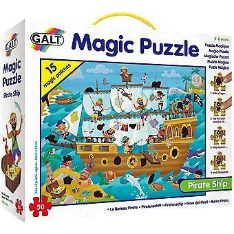 Galt - Magic Puzzle - Piratenschip 50 Stuk Leeftijd 4-8