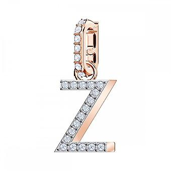 Swarovski Remix Rose Gold Tone Plated & White Crystal Letter Z Charm