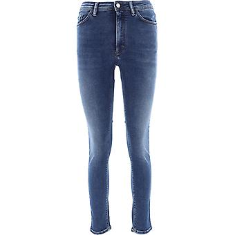 Acne Studios 30d176127 Kvinnor's Blue Cotton Jeans