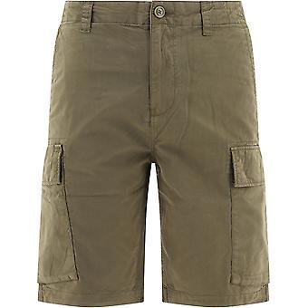 Woolrich Wosh0012mrut2136614 Men's Green Cotton Shorts