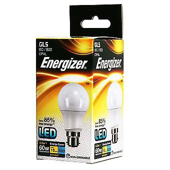 1 X Energizer LED GLS luz bombilla BC/B22 bayoneta tapa 9.2w = 60w 820lm luz [energía clase A +]