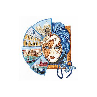 Andriana Cross Stitch Kit - Venetian Mask