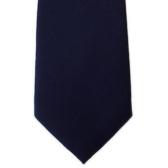 Michelsons Lontoo tavallinen Toimikas-silkki solmio - Navy