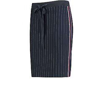 Taifun Navy Pin Striped Skirt