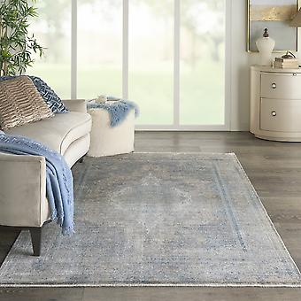 Starry Nights Traditional Medallion Rug Stn06 In Cream Blue