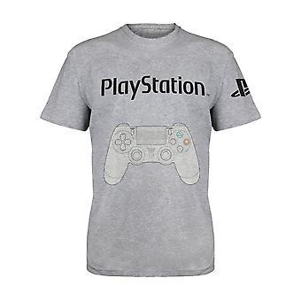 Officiella Kids Playstation Controller Diagram T-Shirt Boys Girls Gaming Gamer