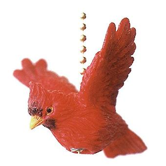 Virginia Red Cardinal Bird Ceiling Fan or Light Pull Three Dimensional