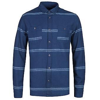 Edwin Indigo Blue Long Sleeve Labour Shirt