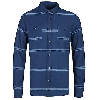 Edwin Indigo blauw shirt met lange mouwen arbeid